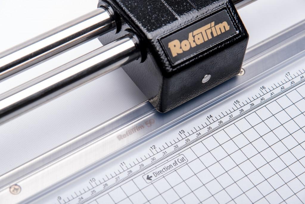 Rotatrim paper cutter